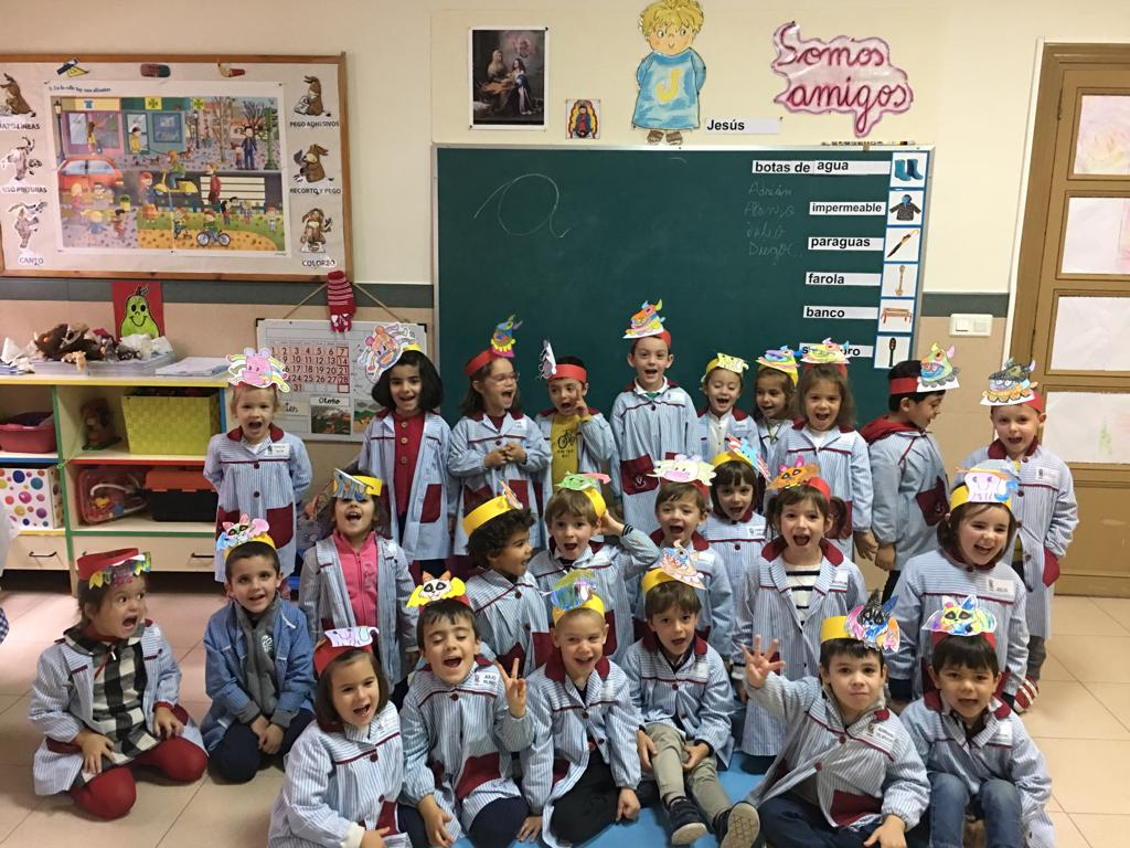 Niños de 2º de Educación Infantil en Halloween