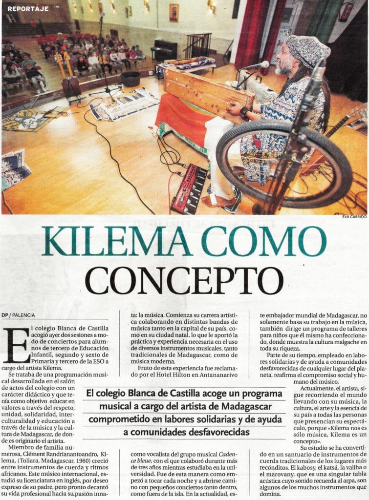 Kilema en el Colegio Blanca de Castilla de Palencia (Diario Palentino)