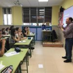 Visita del Centro cultural de sordos a los alumnos de 1º de bachillerato