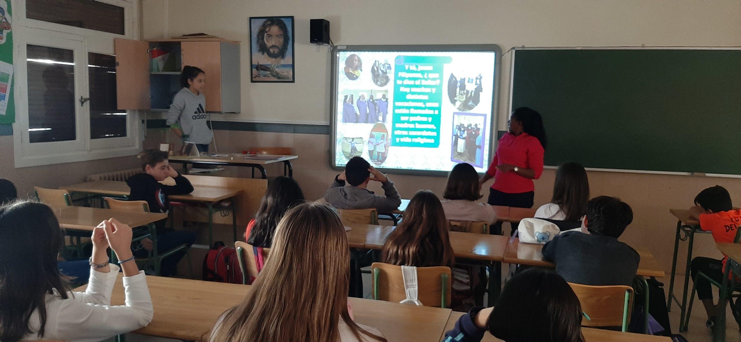 Visita de la Hermana Patricia a los alumnos de 1º de la ESO para contar una realidad diferente