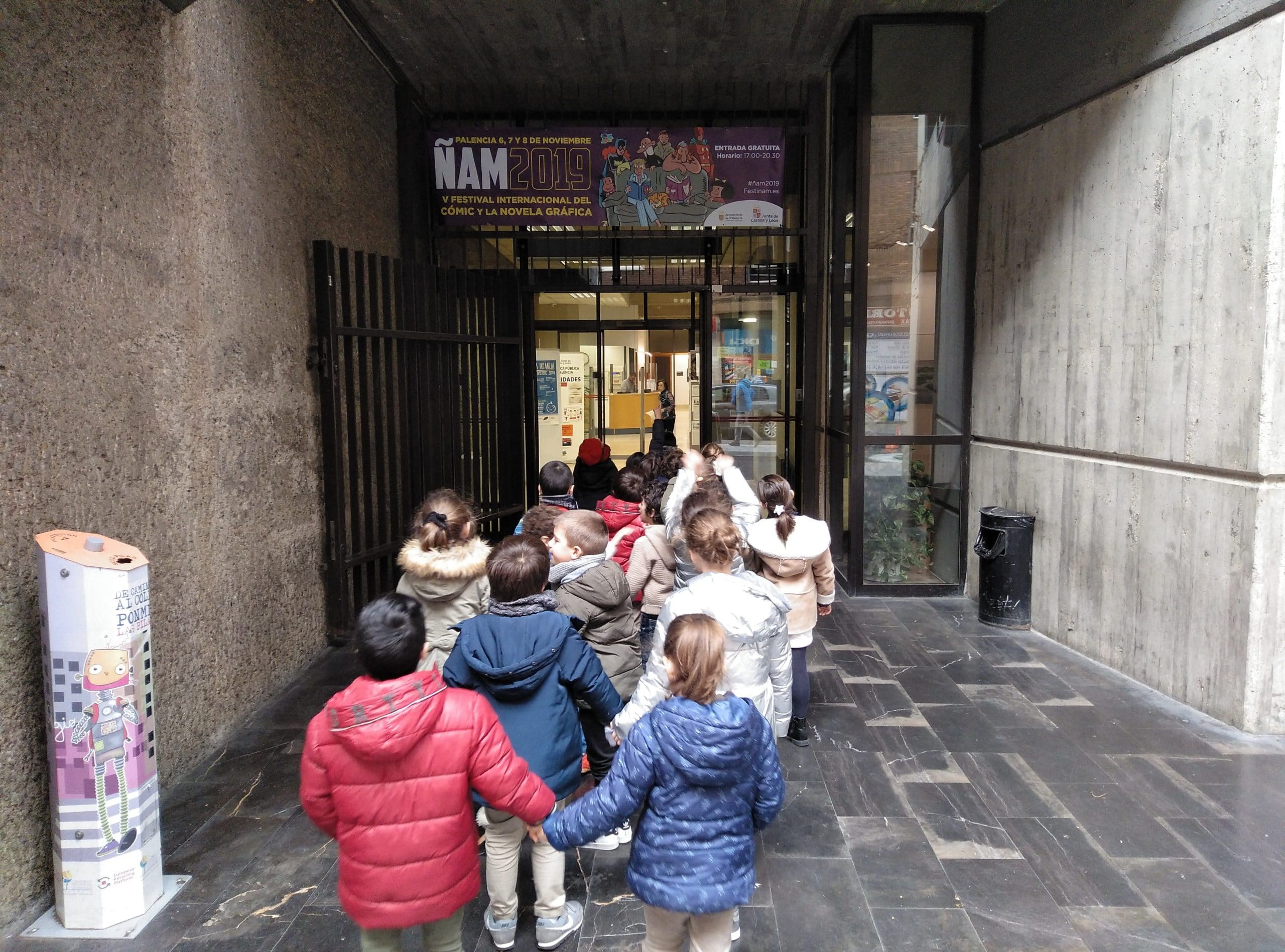 Los alumnos de 1º de Educación Primaria visitamos la Biblioteca Pública de Palencia