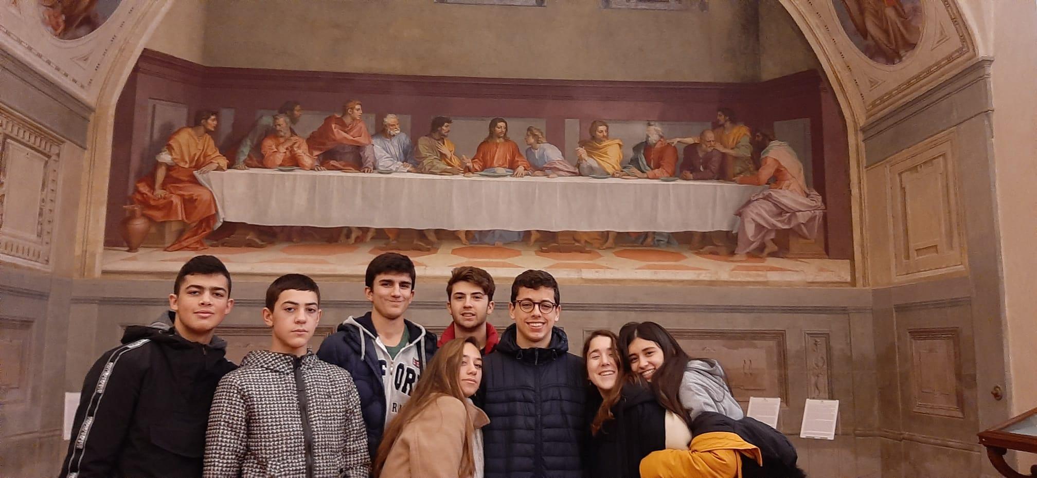 Adiós Florencia de los alumnos de Bachillerato del Colegio Filipense Blanca de Castilla de Palencia