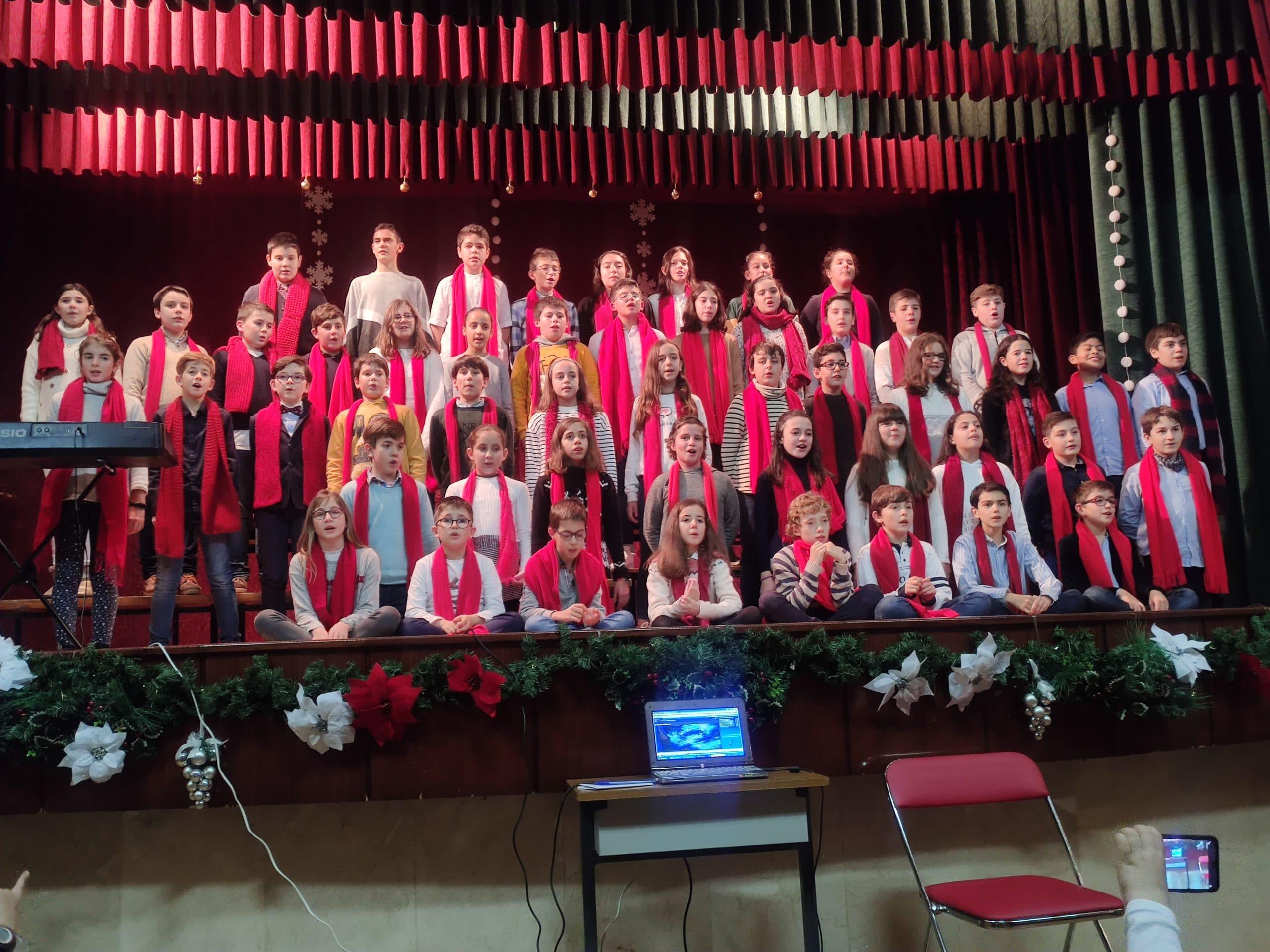 Festival de villancicos de Educación Primaria (6º EPO) del Colegio Blanca de Castilla de Palencia