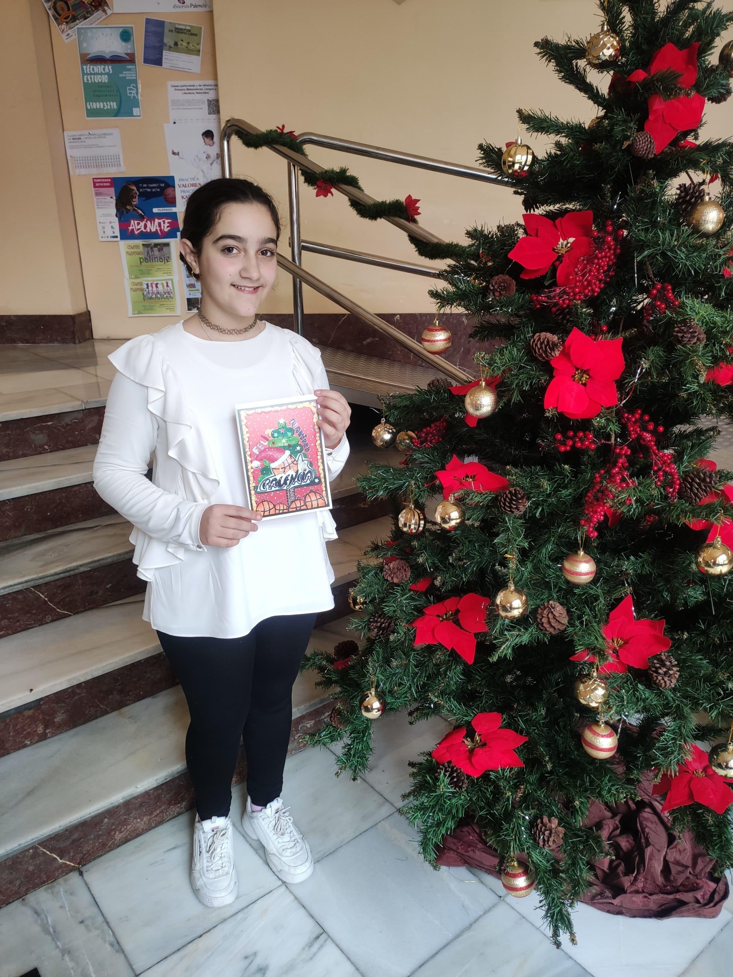 3er premio en el II Concurso de postales navideñas obtenido por la alumna Lorena Álvarez de 1º ESO