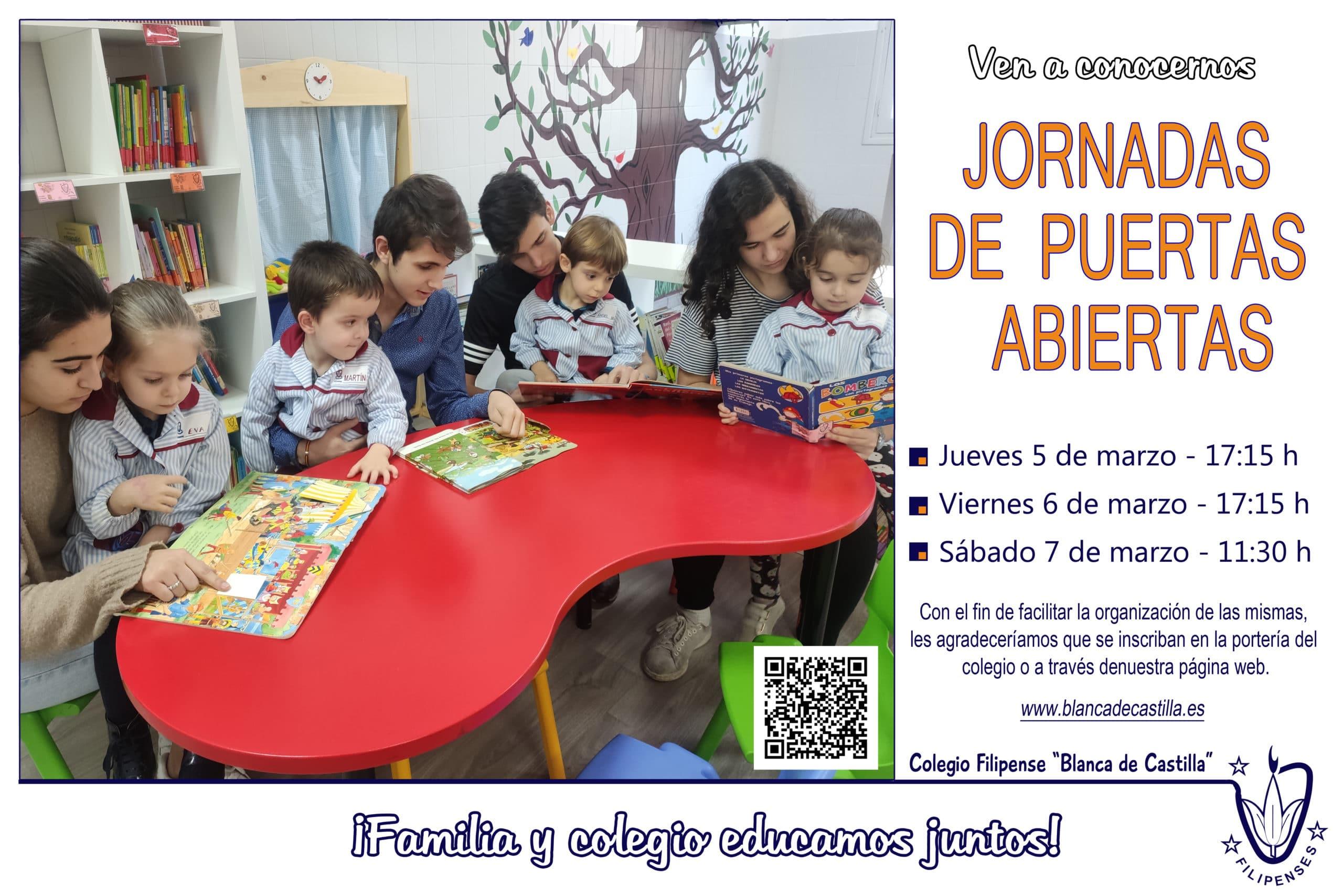 Jornada de puertas abiertas Colegio Blanca de Castilla de Palencia curso 2019-20