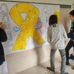 Día del cáncer infantil 2020 - Colegio Blanca de Castilla de Palencia en colaboración con Pyfano