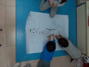 En el comedor del Colegio Blanca de Castilla hemos trabajado La India.