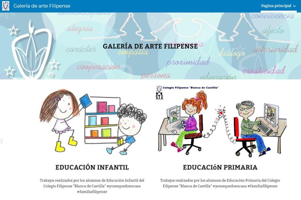 Web Galería de Arte Filipense del Colegio Filipense Blanca de Castilla de Palencia