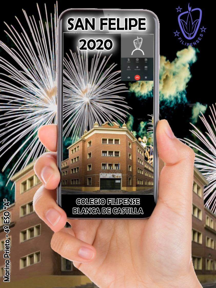 Programa de fiestas de San Felipe 2020 del Colegio Filipense Blanca de Castilla de Palencia