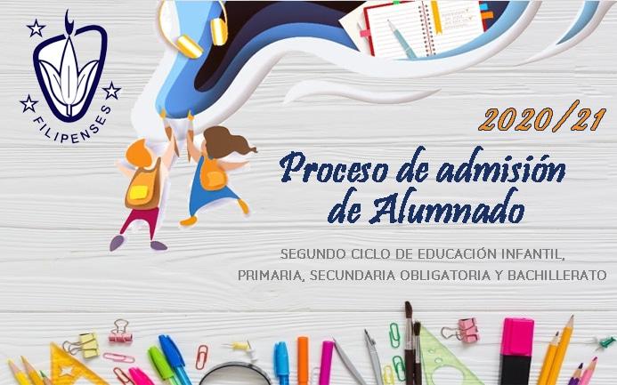 Proceso admisión centros escolares curso 2020-21