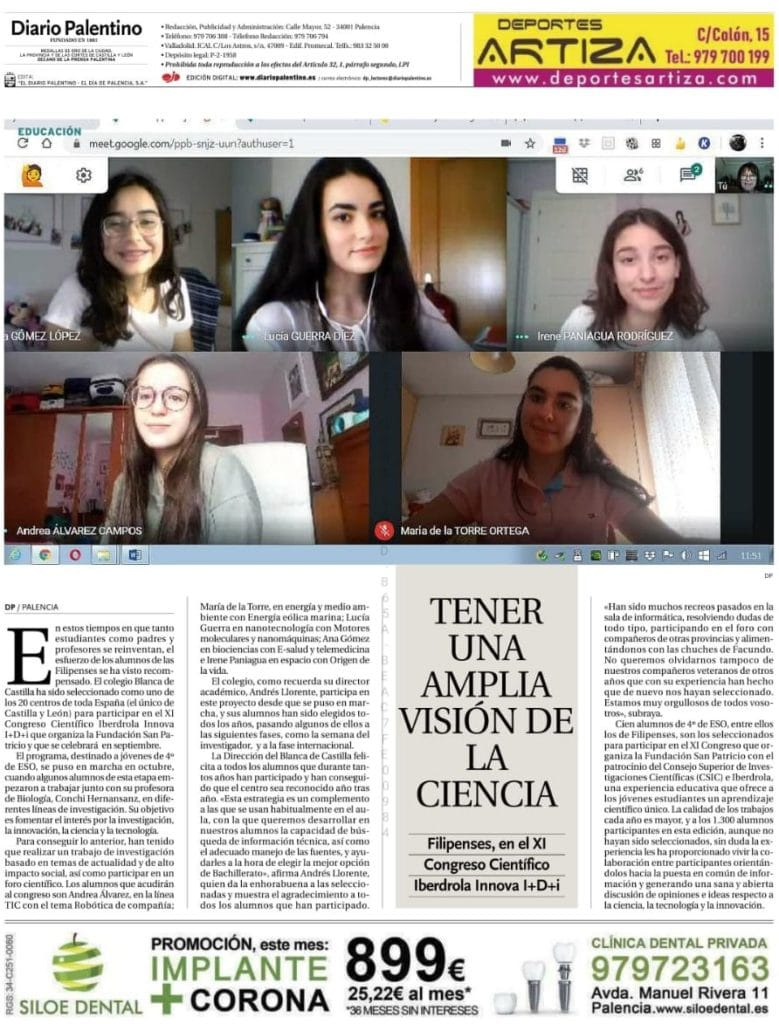 XI Congreso Iberdrola Innova I+D+i - Colegio Filipense Blanca de Castilla de Palencia