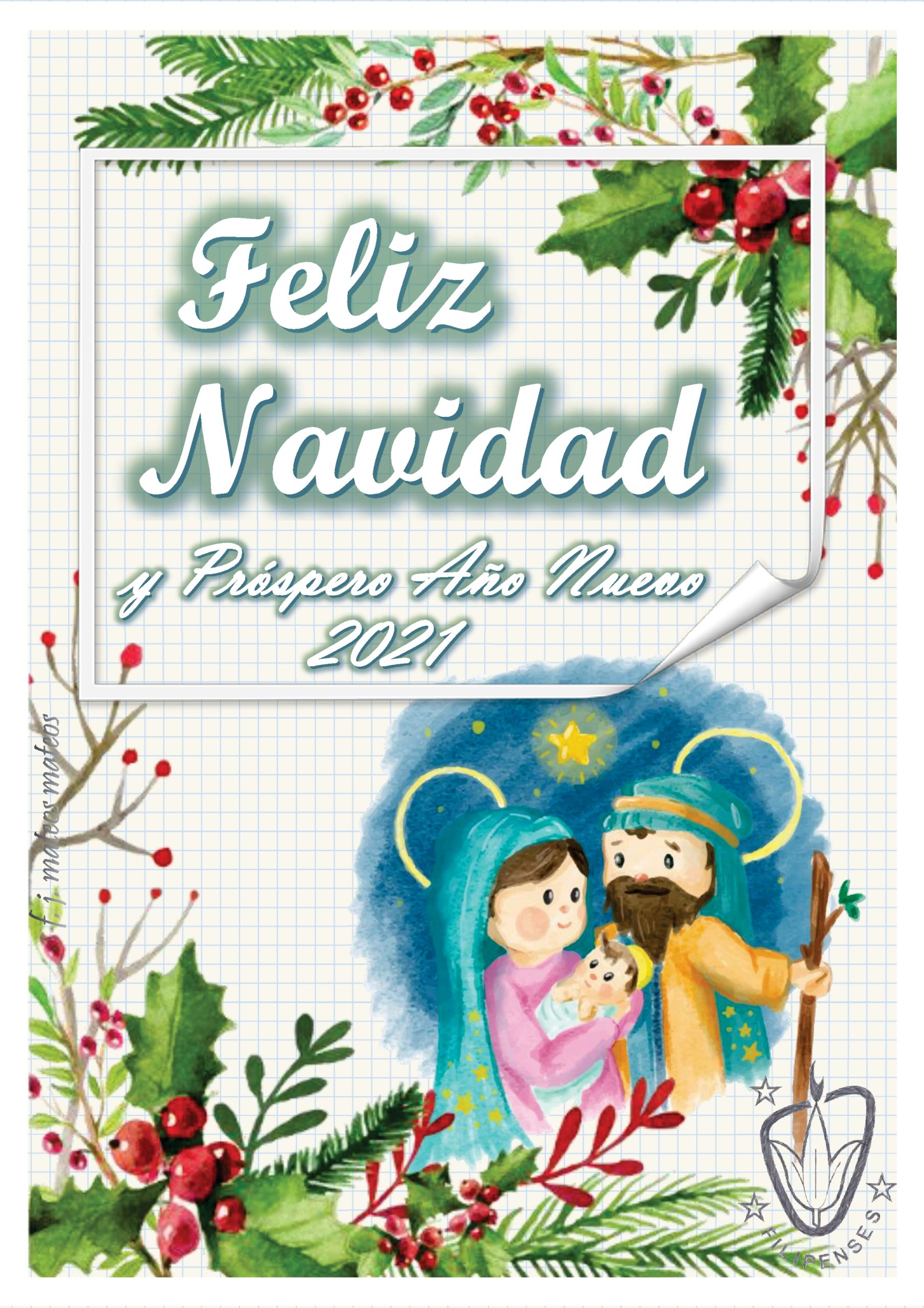 """Feliz Navidad del Colegio Filipense """"Blanca de Castilla"""" de Palencia 2020"""