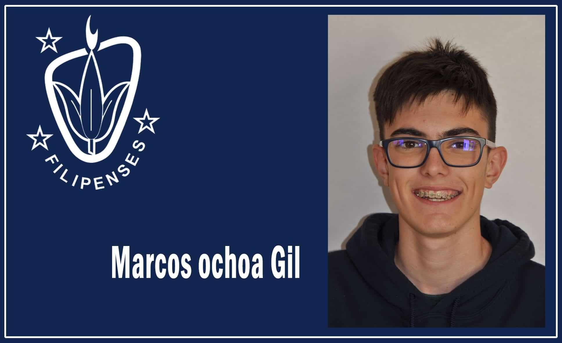 Marcos Ochoa de 2º bachillerato del Colegio Blanca de Castilla ORO en la olimpiada de matemáticas