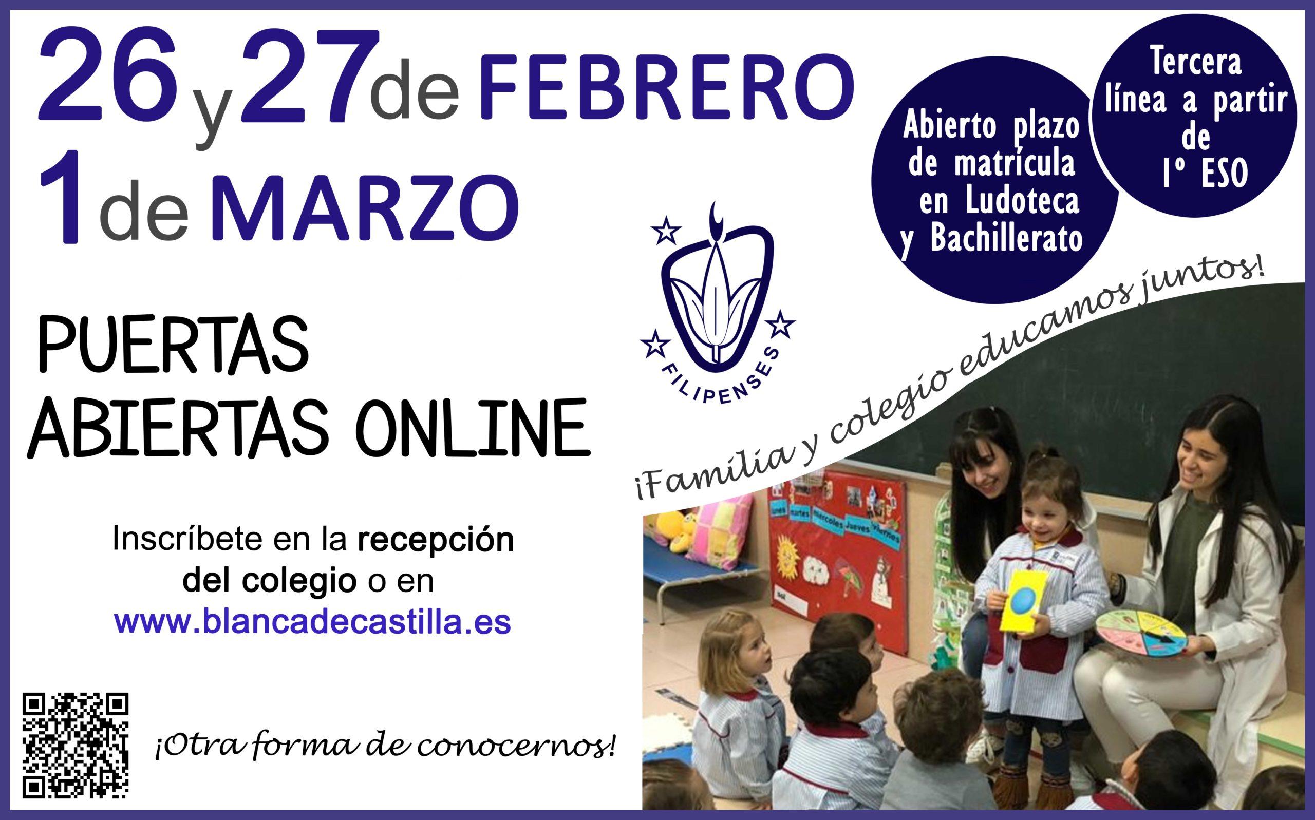 Jornada de puertas abiertas del Colegio Blanca de Castilla de Palencia 2021-22