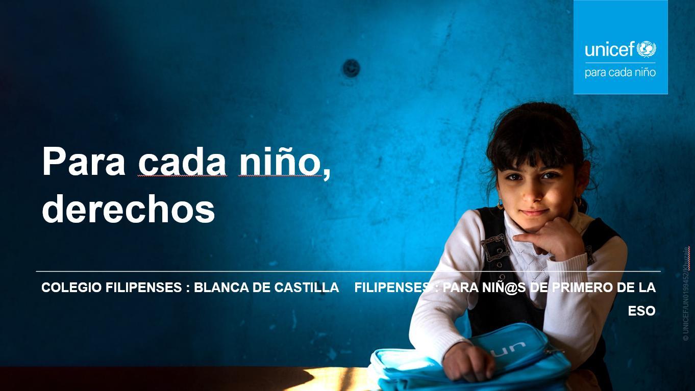 Gotas solidarias de Unicef de los alumnos de 1º de la ESO del Colegio Filipense Blanca de Castilla de Palencia