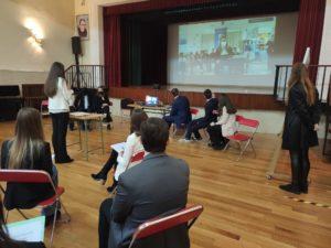 Alumnos de 4º de la ESO participan en la V Asamblea extraordinaria de Aragón Modelo Parlamento Europeo