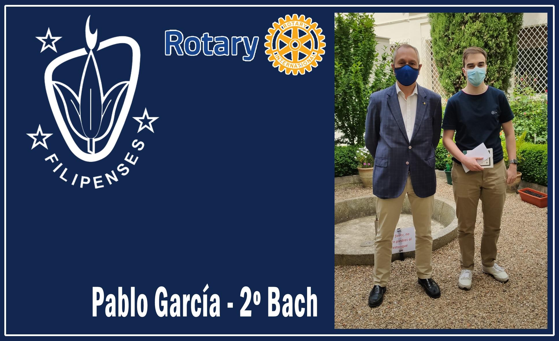 """El alumno Pablo García de segundo de bachillerato participa en un programa del Rotary Club """" Protagonistas del Mañana"""""""