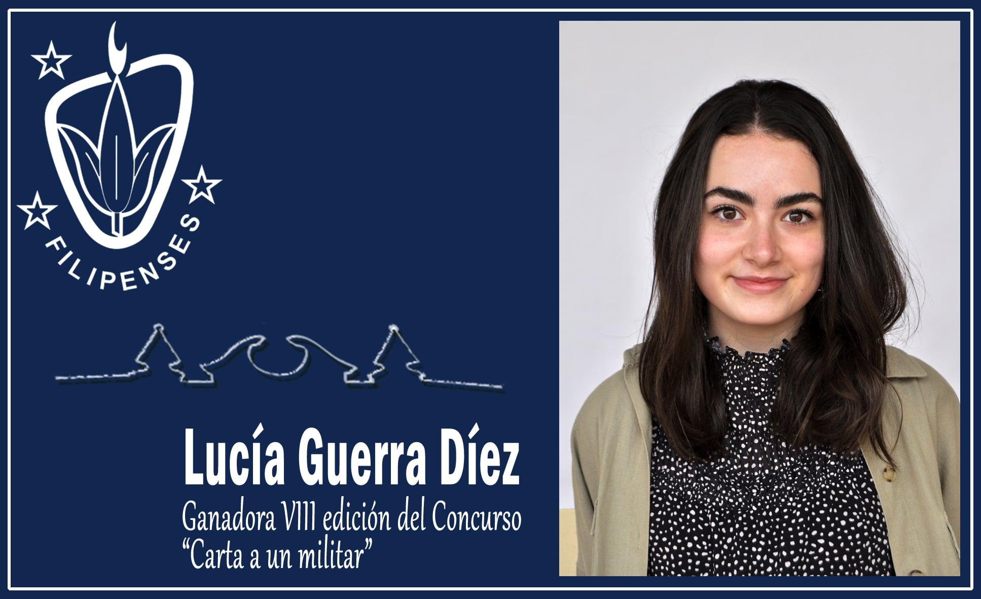 """Lucía Guerra Díez del Colegio Blanca de Castilla vencedora de la octava edición del concurso """"Carta a un militar"""" en Palencia."""