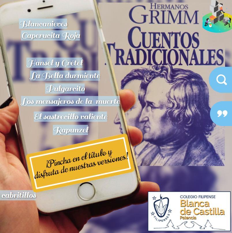 """Proyecto """"Conociendo a los Grimm"""" de los alumnos de 1º de la ESO del Colegio Filipense Blanca de Castilla de Palencia"""