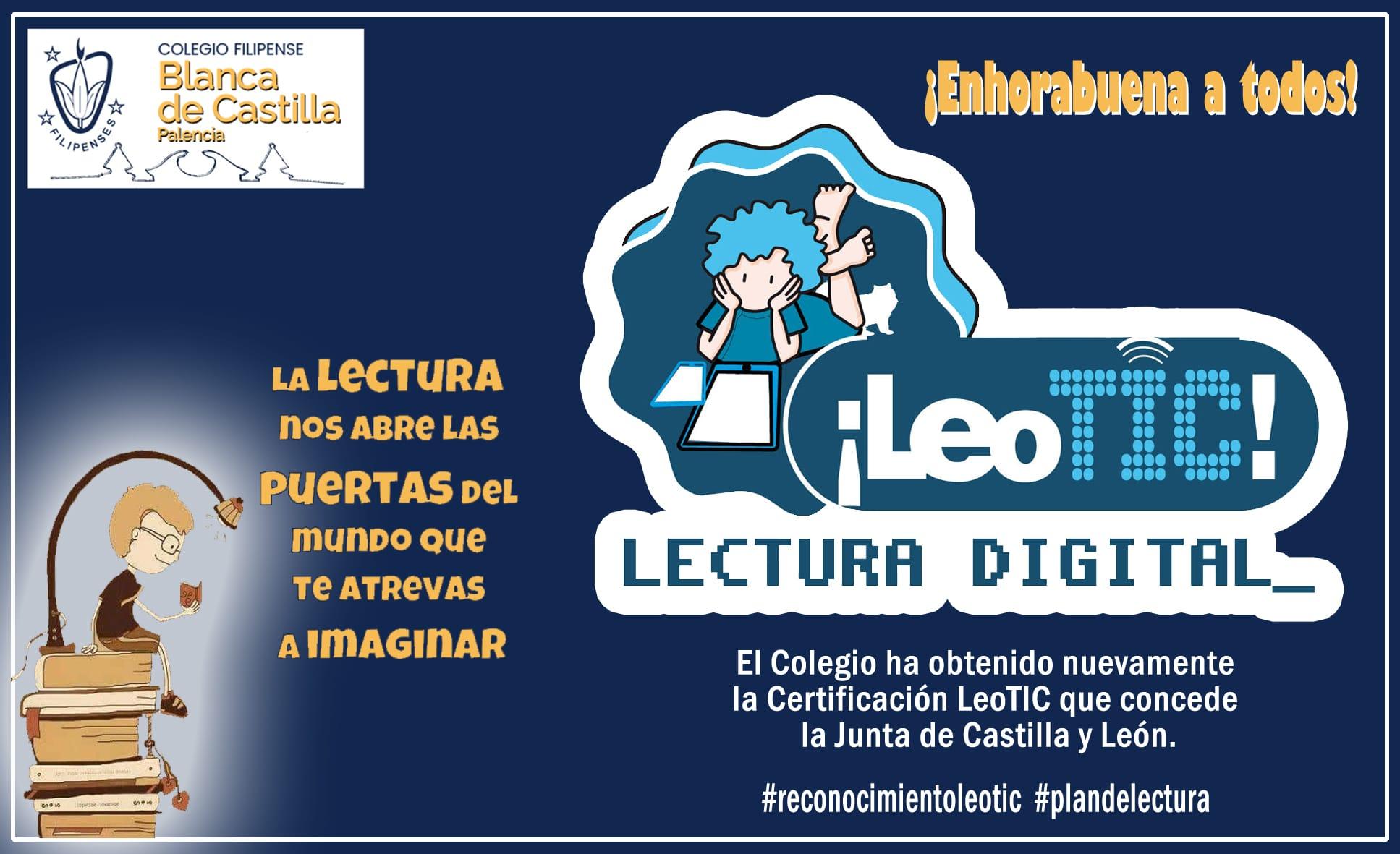 Reconocimiento Leo TIC al Colegio Filipense Blanca de Castilla de Palencia en el curso 2020-21