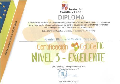 Certificación CoDiCeTIC nivel 5 - excelente