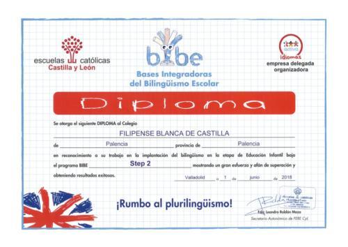 Diploma plan BIBE Step 2