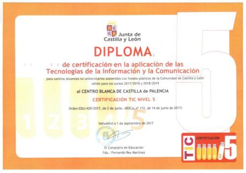 Diploma Certificación TIC Nivel 5