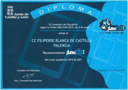 Diploma Reconocimiento ¡LeoTIC!