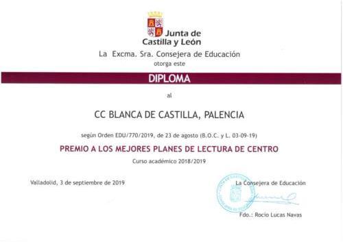 Premio a los mejores Planes de Lectura de Centro
